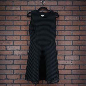 TEMPERLEY LONDON Black Eyelet Striped Dress Sz 8